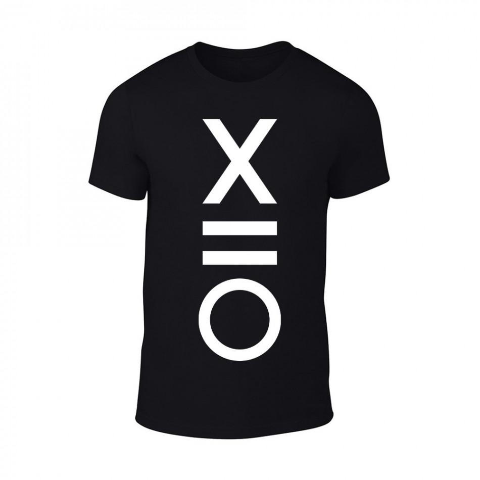 Мъжка черна тениска XO TMN-M-084