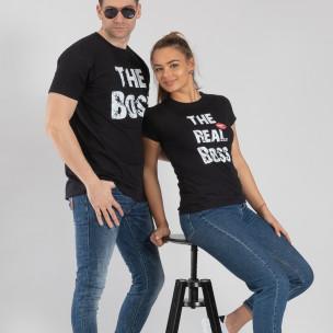 Тениски за двойки The Boss The Real Boss черни