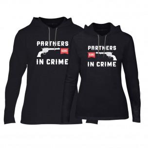 Суичъри за двойки Partners in Crime в черно