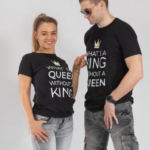 Тениски за двойки What Is King черни