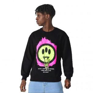 Мъжка черна блуза Emoticon