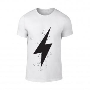 Мъжка бяла тениска Thunder