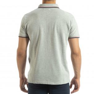 Мъжка тениска polo shirt в сиво 2