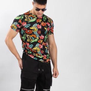 Колоритна мъжка флорална тениска