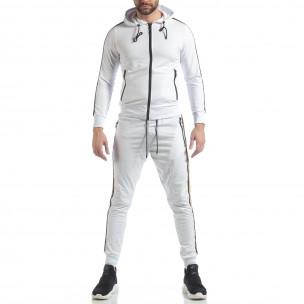 5 striped мъжки спортен комплект в бяло 2
