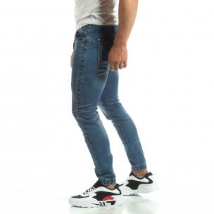 Мъжки сини рокерски дънки тип Jogger