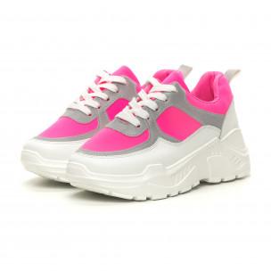 Дамски Chunky маратонки неоново розово  2
