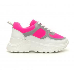 Дамски Chunky маратонки неоново розово