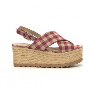 Дамски сандали на платформа Rustic style