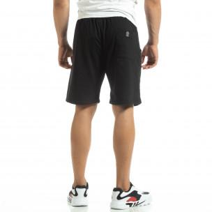 Черни мъжки трикотажни шорти 2