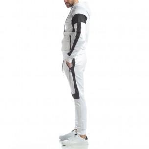 Ефектен мъжки спортен комплект в бяло