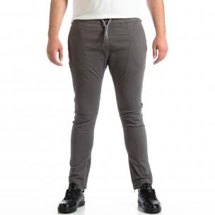 Мъжки сив панталон CROPP с ципове на крачолите
