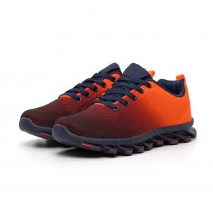 Неоново оранжеви мъжки маратонки с релефна подметка 2