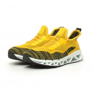 Мъжки маратонки Knife жълто Reeca 2