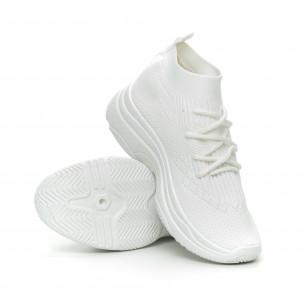 Дамски Chunky маратонки тип чорап в бяло 2