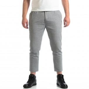 Cropped панталон RESERVED в сиво
