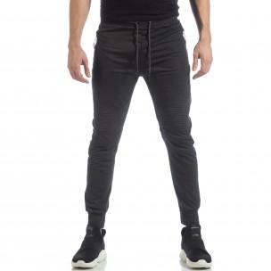 Мъжки джогър тип Biker в тъмно сиво