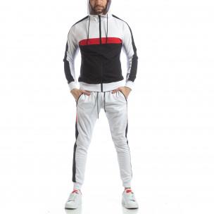 Бял мъжки спортен комплект с ленти 2