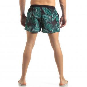 Зелен мъжки флорален бански с кантове 2
