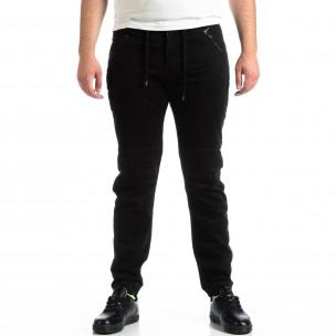 Мъжки черен панталон House тип Jogger