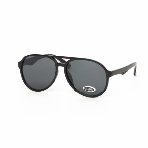 Черни пилотски слънчеви очила масивна рамка
