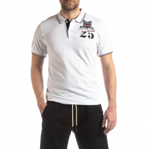 Мъжка тениска polo shirt Royal cup в бяло