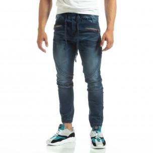 Мъжки сини дънки тип Biker  2