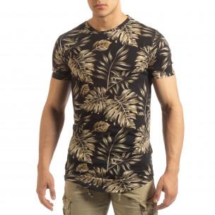 Мъжка тениска с тропически мотиви