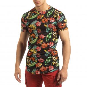 Колоритна мъжка флорална тениска 2
