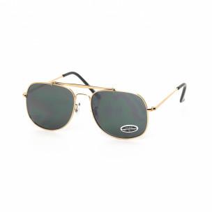 Слънчеви очила златиста метална рамка
