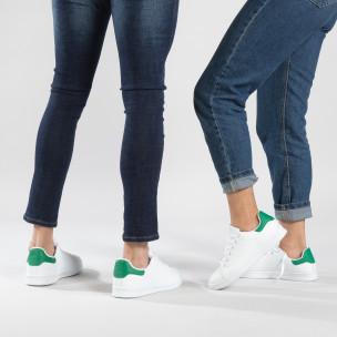 Basic кецове със зелена пета за двойки