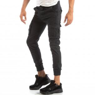 Рокерски сив панталон карго джогър