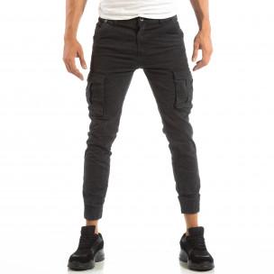 Рокерски сив панталон карго джогър  2