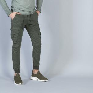 Мъжки Cargo Jogger панталон в милитъри зелено