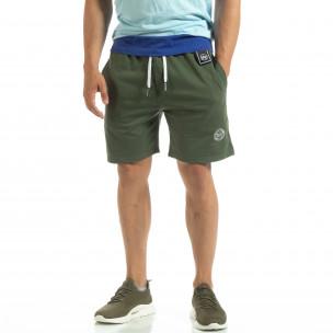 Мъжки шорти трико в зелено