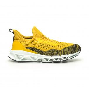 Мъжки маратонки Knife жълто Reeca