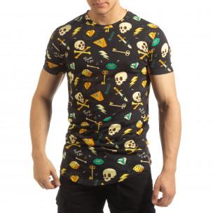 Колоритна мъжка Skull тениска
