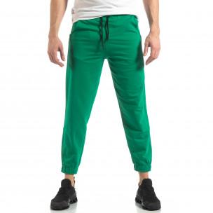 Мъжко зелено долнище с кант 2