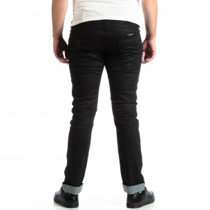 Мъжки Slim Jeans CROPP в черно с маншети  2