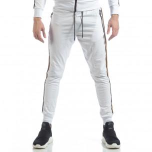 5 striped мъжко бяло долнище 2