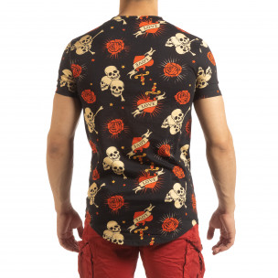 Черна мъжка тениска Skull Love  2