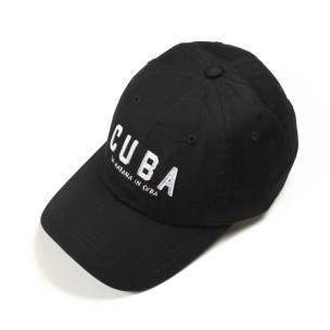 Черна шапка Cuba