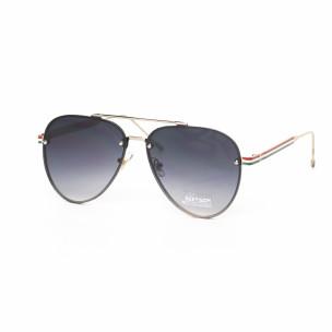 Пилотски очила с плоски стъкла сиво опушено