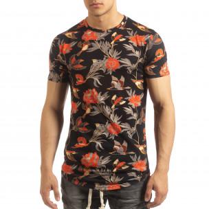 Мъжка тениска с екзотични мотиви