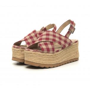 Дамски сандали на платформа Rustic style 2