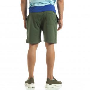 Мъжки шорти трико в зелено 2