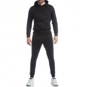 5 striped мъжки спортен комплект в черно 2