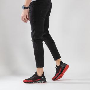 Леки мъжки маратонки Knife в черно и червено