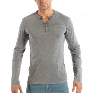 Мъжка сива блуза House с копчета
