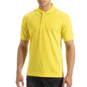 Мъжки polo shirt Kappa в жълто regular fit  2